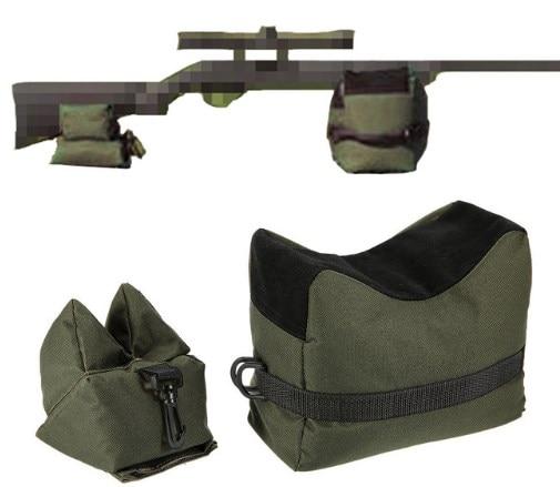Outdoor Bike Front Rear Bag Support Rifle Sandbag Set Portable Sniper Hunting Tactical Gun Rest Target Stand CS Shooting Bag