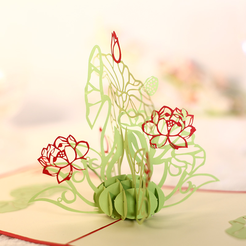 Its A Pure Love Daffodil Creative 3D Pop UP Greeting Gift Birthday Cards Free Shipping