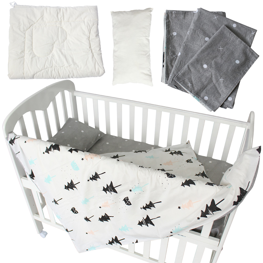 Baby cribs york region - Baby Bedding Set 5 Pcs 100 Cotton Baby Crib Bedding Set Quilt Pillow With Filling