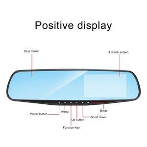 Image 5 - 4.3 Inch 1080P HD Car DVR Mirror with Rear View Camera Night Vision Car Dash Camera Auto Driving Video Recorder