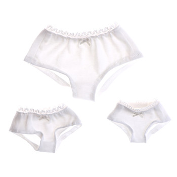 1Pcs Pure White Underwear Briefs for BJD Dollfie Dolls Clothes S/M/L Size For 1/3 1/4 1/6 Solid Doll High Quality image