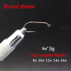 5sizes 30pcs/pack Fly Tying Hook 60Degree Jig Hook 8# 10# 12# 14# 16# Barbless point For Dry&Wet Flies tungsten beads attachable