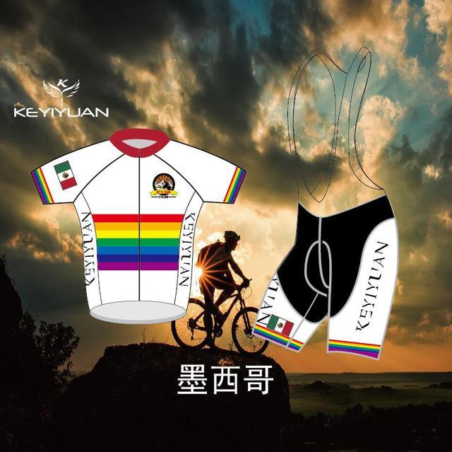 9e375a0b5 KEYIYUAN Rainbow Flag Design Fast Dry Breathable Riding Cycling Shirt  Summer Shirt Men s Bike Racing Top Bike Cycling Clothing