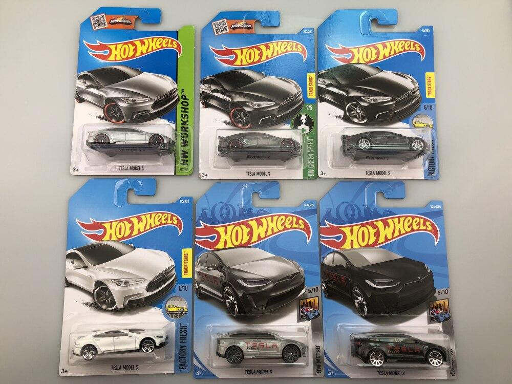 Hot Wheels 1: 64 TESLA Carro MODELO 3 S X Collector Edition Metal Diecast Carros Modelo Crianças Brinquedos de Presente