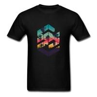 Geometric Sunset Beach Online T Shirts Create Tshirts Boy Short Sleeve Boyfriend S Big Size