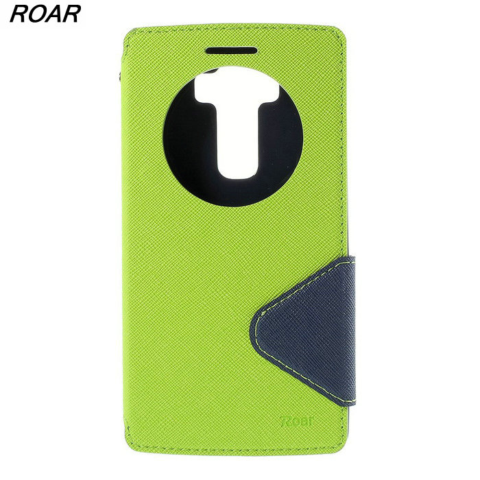 Для LG G <font><b>Flex</b></font> 2 Чехол оригинальный рев Корея Дневник кожа окном View держателя карты телефон чехол для LG G Flex2 H955 LS996 H950