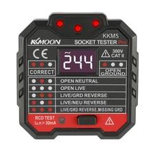 Цифровой дисплей электрическая розетка тестовая er штепсельная вилка полярность фазовый контрольный детектор на выходе тест напряжения электроскоп UK Plug 30mA