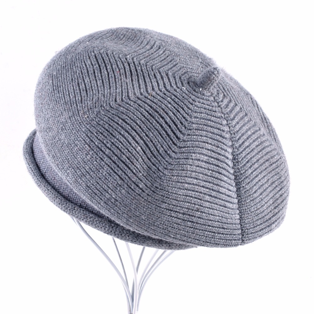 Invierno otoño Retro Vintage negro gris Boina mantener caliente hombres  Boina gorra lana mezcla Tweed Newsboy b22f6655437