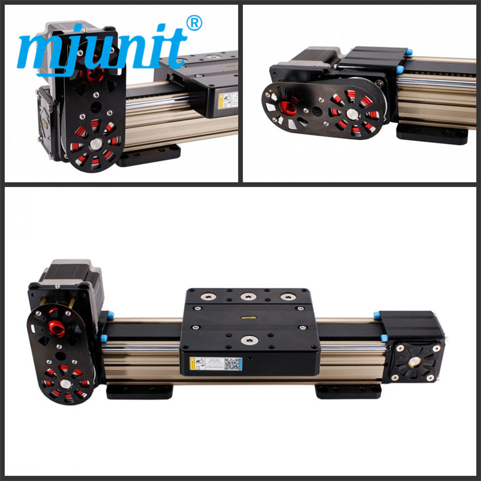 mjunit MJ80 600mm stroke length Cheap price cnc linear guide rail for cnc drilling cutting engraving machine Timing Pulley Reduc