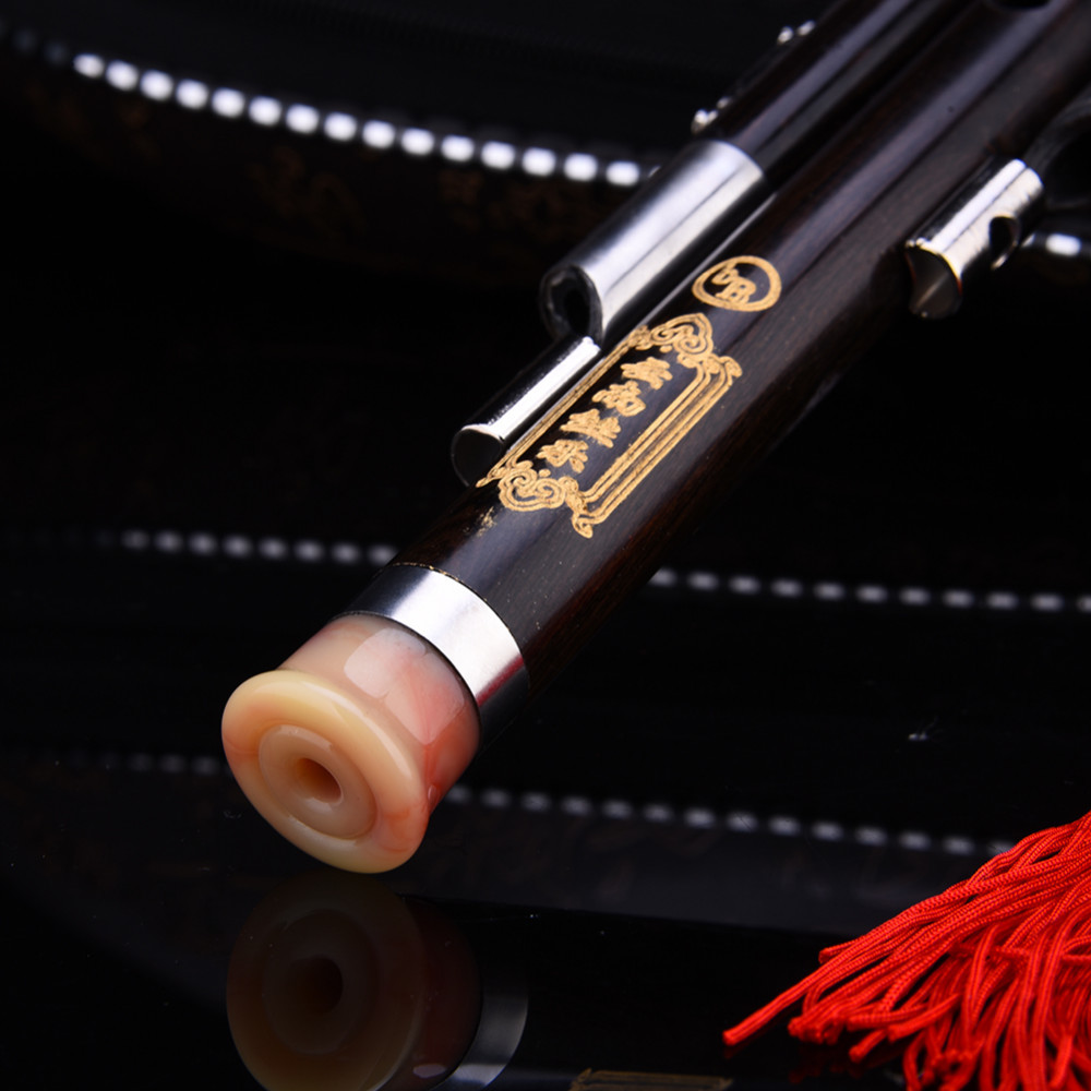 Trois tons clé de C bB A Hulusi flûte cuivre placage ébène gourde résistant à l'humidité calebasse Cucurbit flûte Instruments nationaux chinois - 5