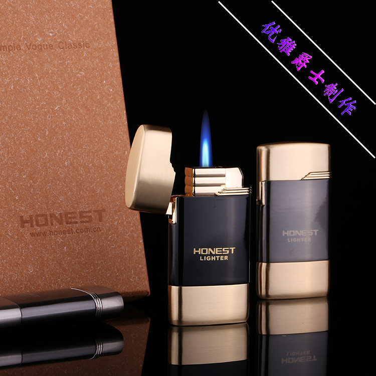 Honest palcent personality male boutique font b electronic b font inflatable windproof metal lighter