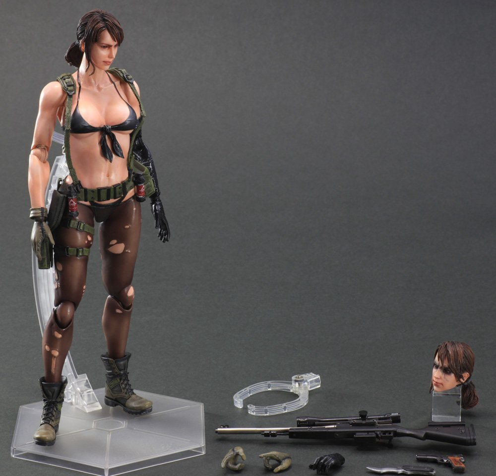 Play Arts Kai Metal Gear Solid 5 Phantom Pain Quiet Venom Snake Figure PA 25cm Play ART PVC Action Figure Doll Toys free shipping 613295 001 for hp probook 6450b 6550b series laptop motherboard all functions 100% fully tested