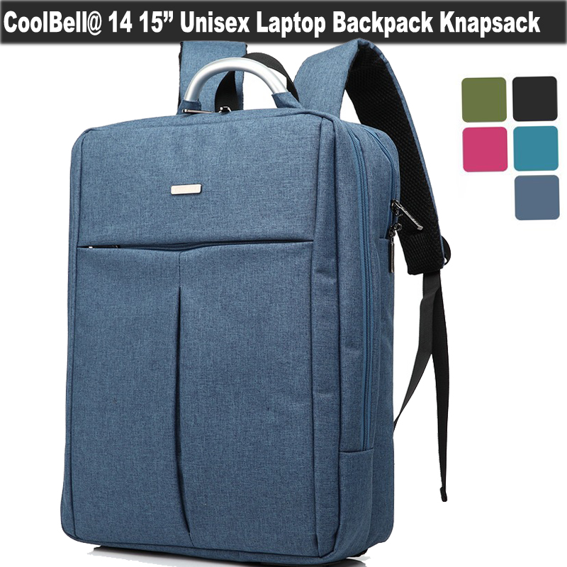 Coolbell Waterproof Laptop Backpack Nylon Multi-compartment Knapsack Traveling School Bag for 14 15.6