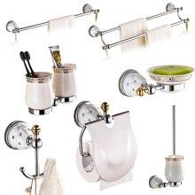 Латунные и Серебристые полированные аксессуары для ванной комнаты, наборы алмазных и хрустальных аксессуаров для ванной комнаты, настенные Товары для ванной