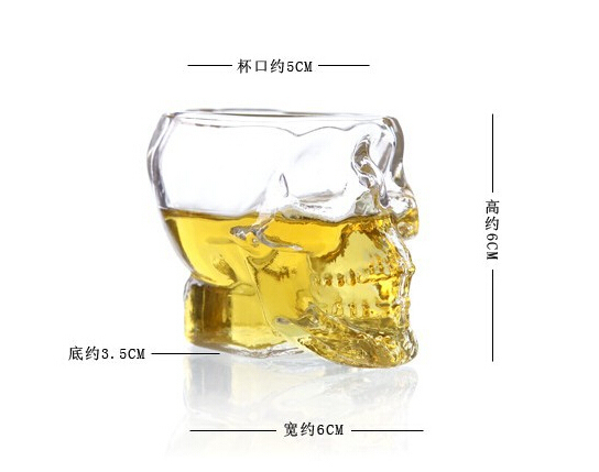 Creative Cup Crystal Skull Bottle Pirates Glass