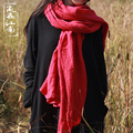 linen scarf 180cm*128cm Extra Large  tassels sparse linen soft and comfortable shawl oversize muffler neckerchief wraps
