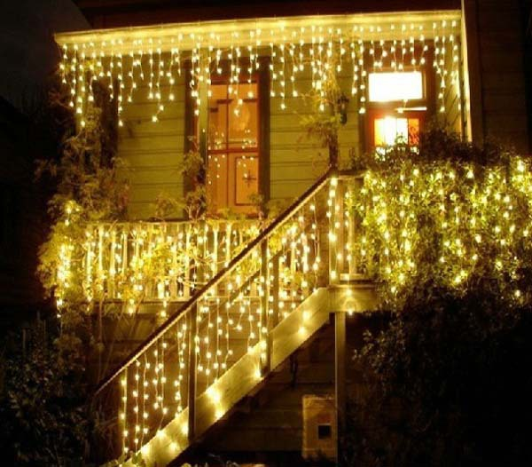 3.5M 100 LED String Fairy Lights Warm White CHRISTMAS WEDDING PARTY Curtain Lights luces de navidad decorativas cortina de led