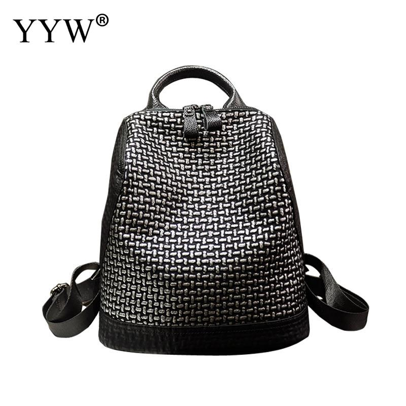 Backpack Women Hand-Bags Teenage-Girl Casual For Shell-Shape Female Contrast-Color