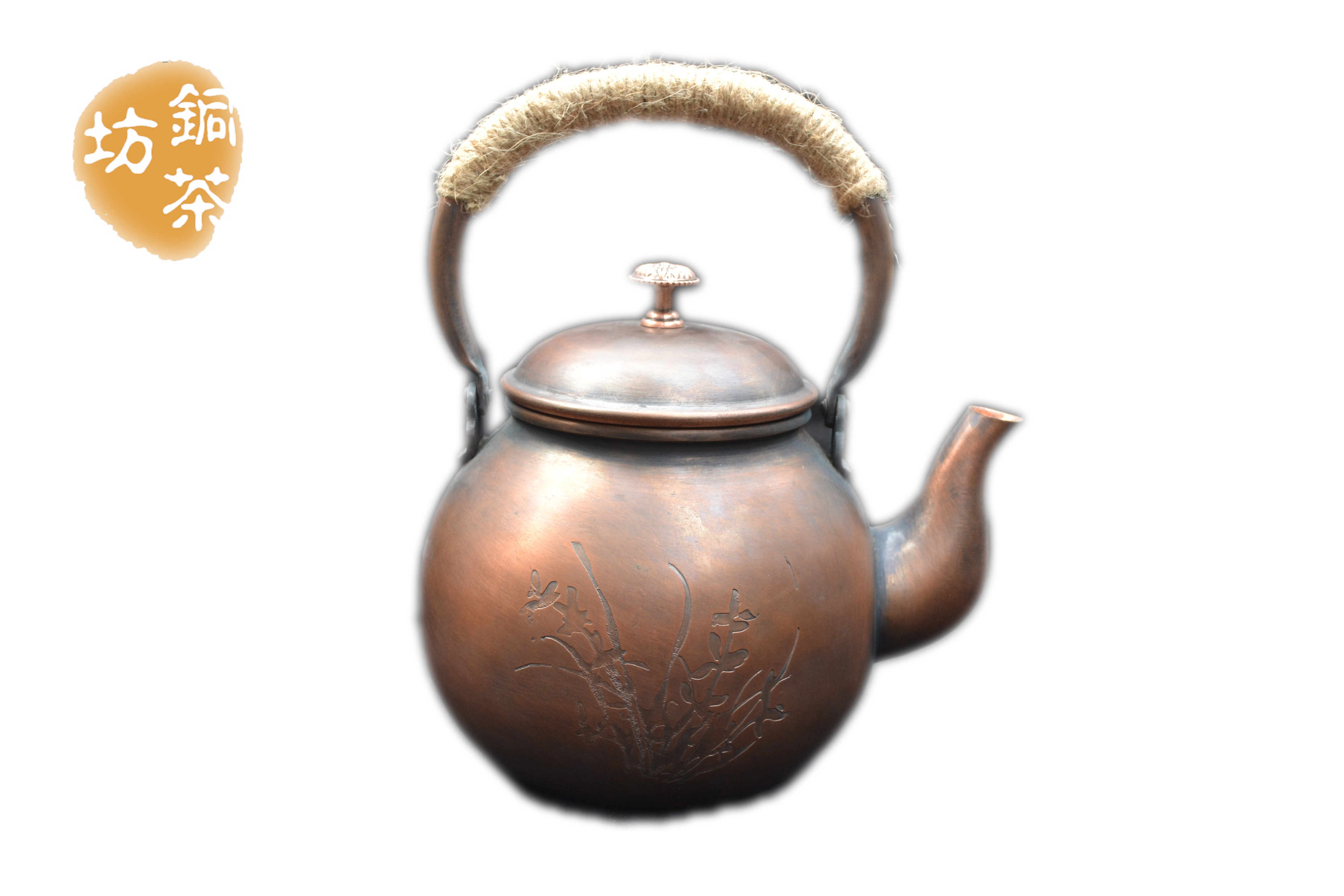 Copper Kettle Antique Plum Blossom Whistling Kettle Blossom Japanese Style Water Kettles