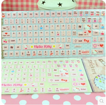 on sale 9ac18 a0489 US $25.9 |(10 Pcs/Lot) Kawaii PVC Hello Kitty Cute Keyboard Stickers-in  Keyboard Covers from Computer & Office on Aliexpress.com | Alibaba Group