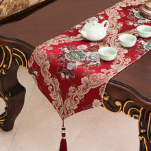 Wedding red Europe table flag Table Runner Tablecloth Embroidered Runners Flag Dinner Mats Home Textile