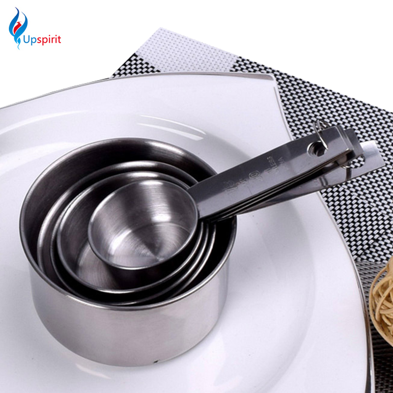 New Coming 5Pcs/<font><b>Set</b></font> Stainless Steel <font><b>Measuring</b></font> Spoons <font><b>Cups</b></font> <font><b>Measuring</b></font> <font><b>Set</b></font> Tools Cooking Scoop Kitchen Coffee Baking
