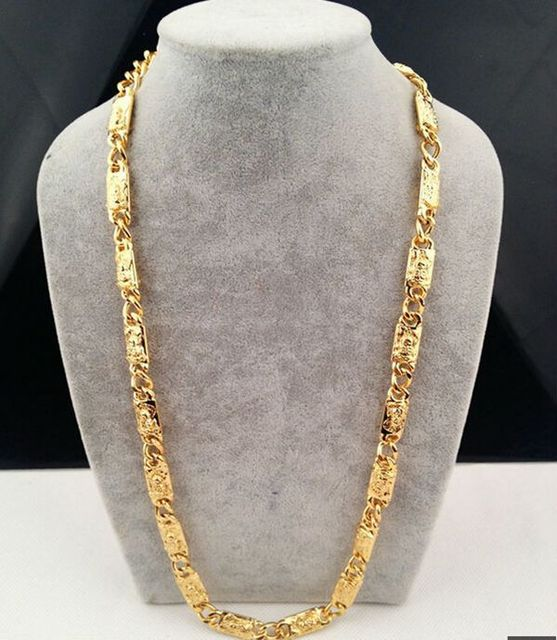 gold usa mens byzantine jewels z jewelry solid chain square yellow chains