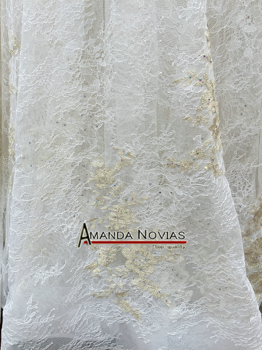 Image 2 - Off The Shoulder Straps Luxurious Wedding Dress With 3D Flowersluxury wedding dresseswedding dressluxurious wedding -