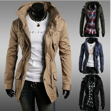 Autumn Winter Jacket Coat Men's Trench Coat Military Fashion Coat Men Army Hooded Jacket Camouflage Jackets And Coats For Male