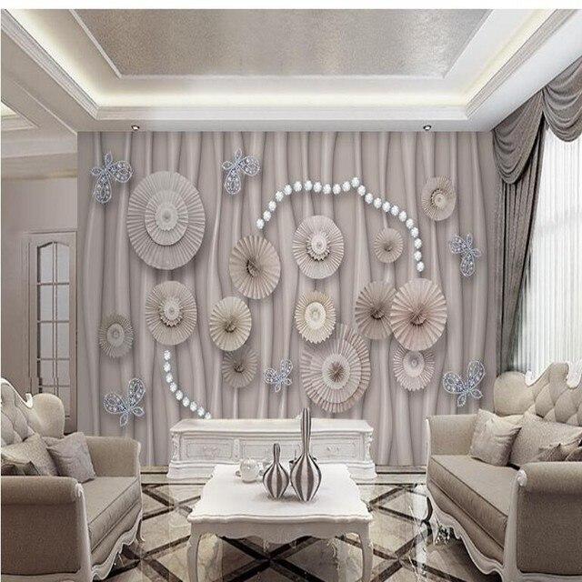 beibehang Custom elegance elegant low - key luxury jewelry diamonds Japan and South Korea national wind background wallpaper