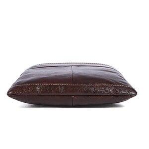 Image 4 - MVA Messenger Mens Bag shoulder Mens Genuine Leather bag Flap Small male man Crossbody bags for men natural Leather bags 703