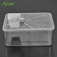 Saim Turtle Cylinder Plastic Reptile Box Small Pet Spider Tank Breeding Bowls Desktop Ecological Cylinder Reptile Feeder Box