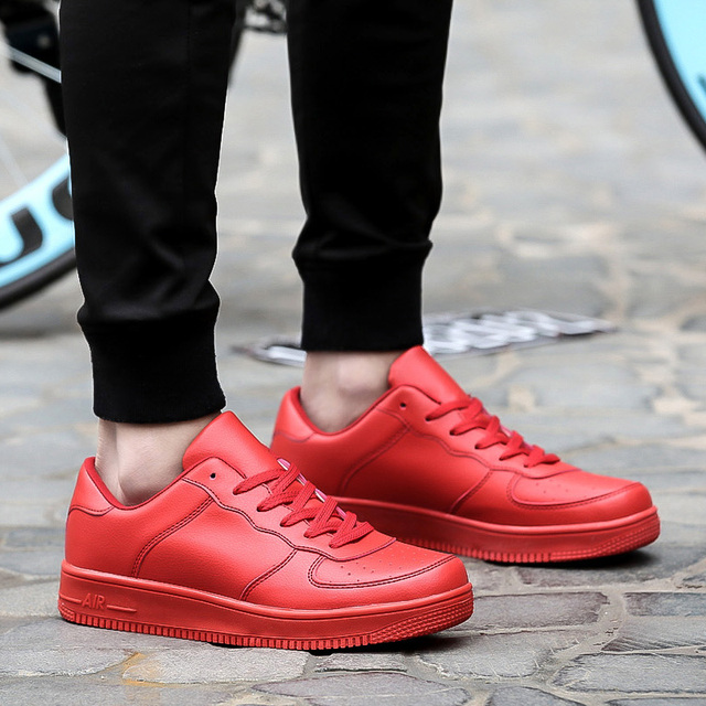 5cc76b3f43d Superstar Walking Air All White Casual Red Bottom Shoes For Men women  Unisex Fashion Breathable Outdoor Lace-up sapatos casuais