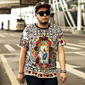 retro t shirt men XXL- 7XL 2016 new 3d print Saint style t-shirt homme plus size 7xl 6xl 5xl tshirt for men 4XL 3XL XXL