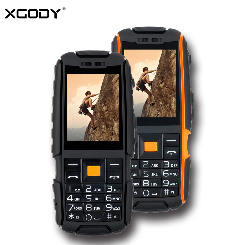 XGODY A9 Rugged Waterproof Shockproof Phone Russian Keyboard 2 4 Inch TFT Unlock 2G Dual Sim