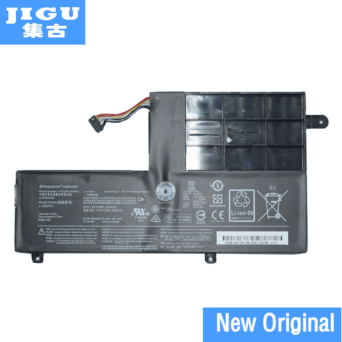 JIGU laptop battery L14L2P21 L14M2P21 FOR LENOVO for Ideapad 510S-14 510S-14ISK U41-70 S41 yoga 500 garda decor бра