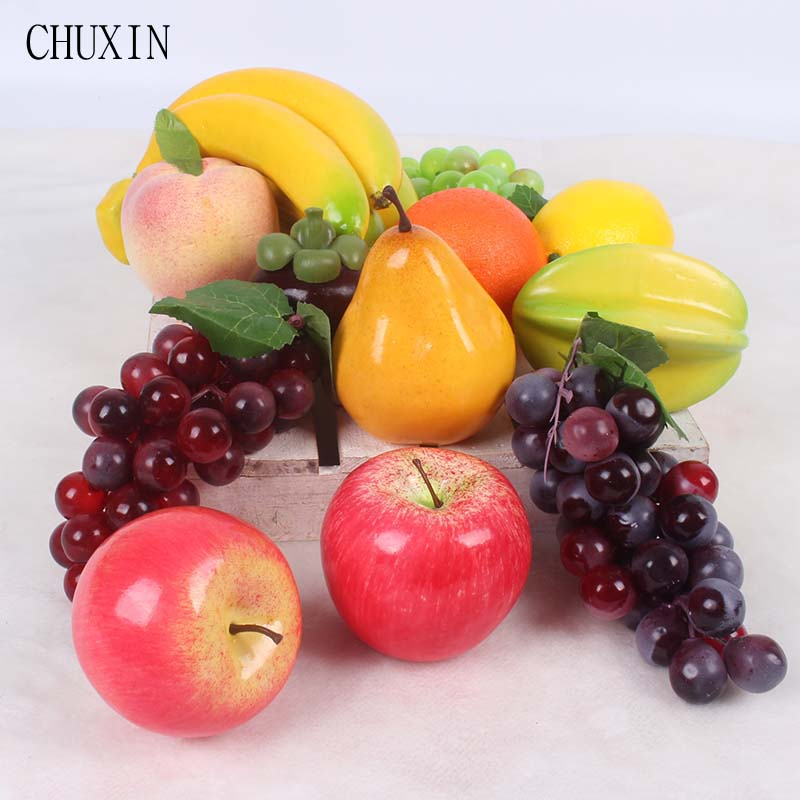 Artificial D Red//Yellow 24 x Decor Apple Mini 2cm Fruits