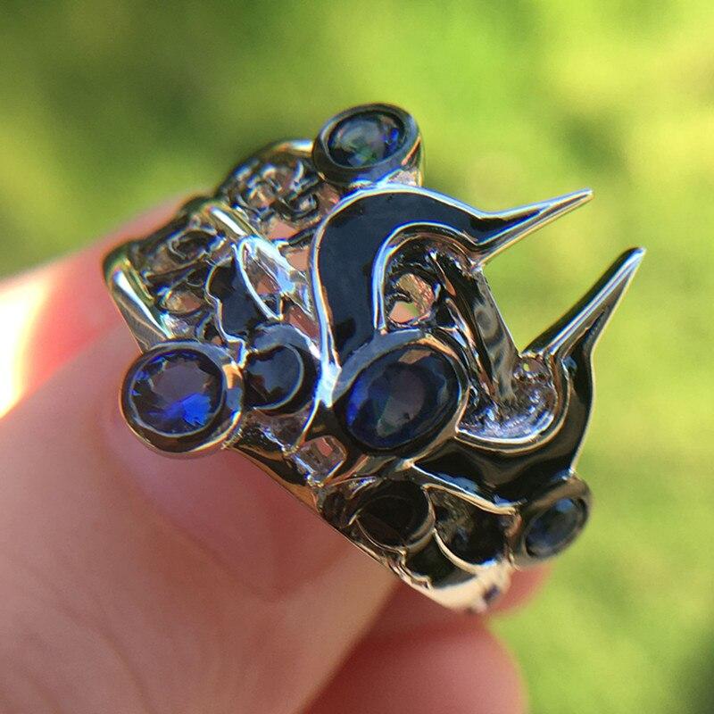 925 bijoux en argent Sterling bagues de fiançailles LoL maître Ionia le noir souverain Syndra anneau jeu bijoux fille ami cadeau anneau