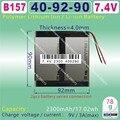 [B157] 7.4 V, 4600 mAH, [409297] Polímero de íon de lítio/bateria de Iões de lítio para tablet pc, GPS, mp4, MP3, telefone celular, telefone celular speaker