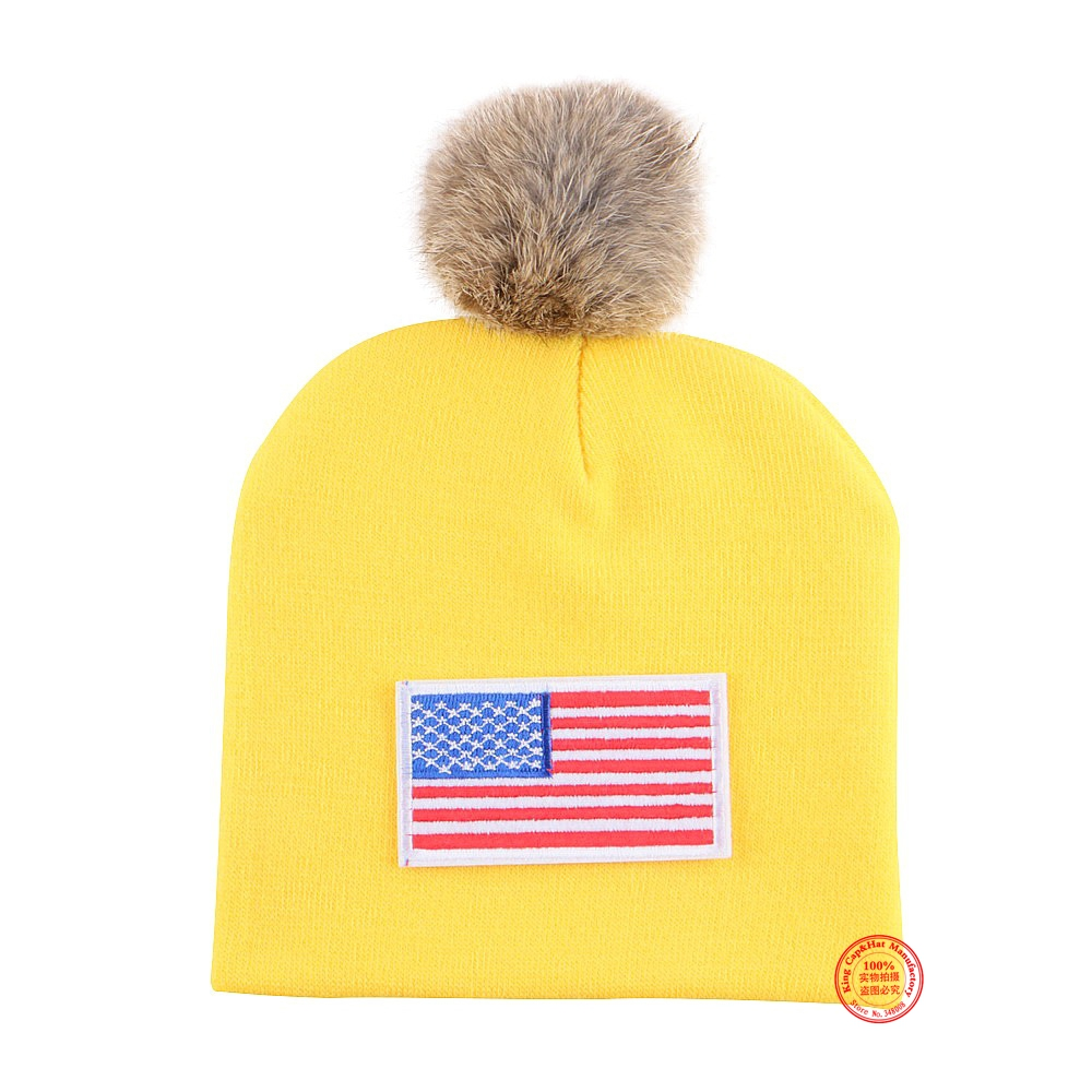 0 to 2 year old baby lovely winter hat with real animal fur ball high quality cotton warmer casual girl boy children beanies cap