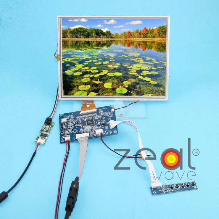 10.4Inch A104SN03 800x600 4:3 TFT LCD Display + (VGA+AV) Driver Controller Board Card+Touch Panel 10 4inch a104sn03 800x600 4 3 tft lcd display vga av driver controller board card