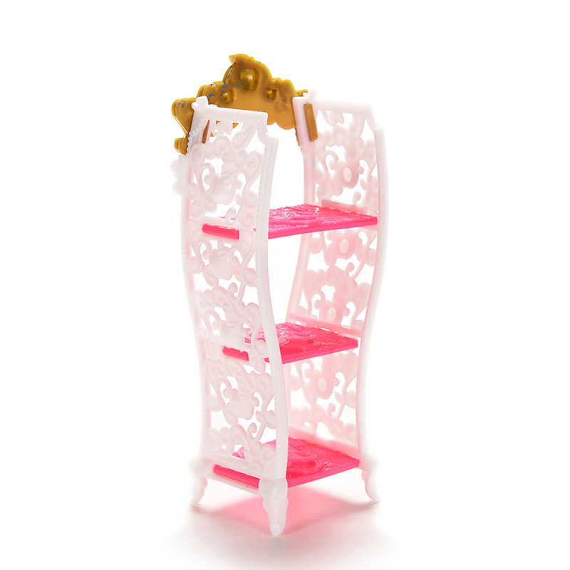 TOYZHIJIA 1 Pc Pop Speelgoed Mini Woonkamer Meubelen Schoen Cabine Kleur Willekeurige