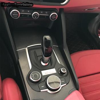 For Alfa Romeo Giulia 2017 real Carbon Fiber Interior Decorative Trim Cover 7pcs/set LHD Only