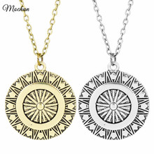 MQCHUN DC Comics Wonder Woman Shield Statement Necklace Vintage Silver Bronze Color Pendant Marvel Movie Jewelry For Fans Gifts