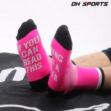 a93f4575d91 Chaussettes de sport drôles lettre imprimée si vous pouvez lire cela  m apporter une bière chaussettes de cyclisme femmes hommes .