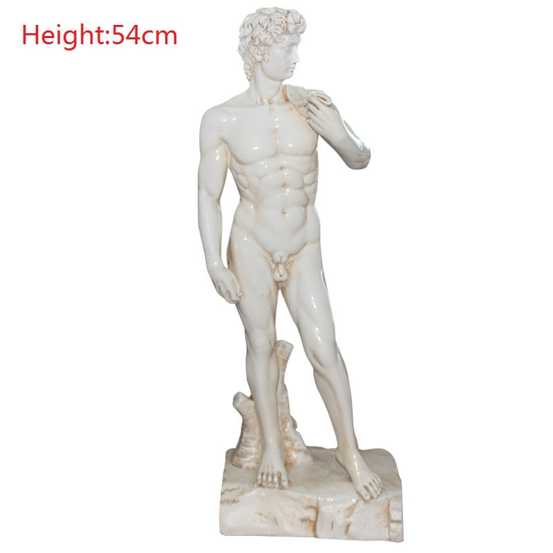 David Full-Length Portrait Statue Michelangelo Buonarroti Art Sculpture Creative Resin Home Decorations Wedding Gifts R907