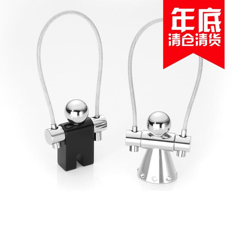 Duitsland Troika echt crystal set van liefde springtouw paar key/cirkel rope skipping kleine metalen sleutelhanger