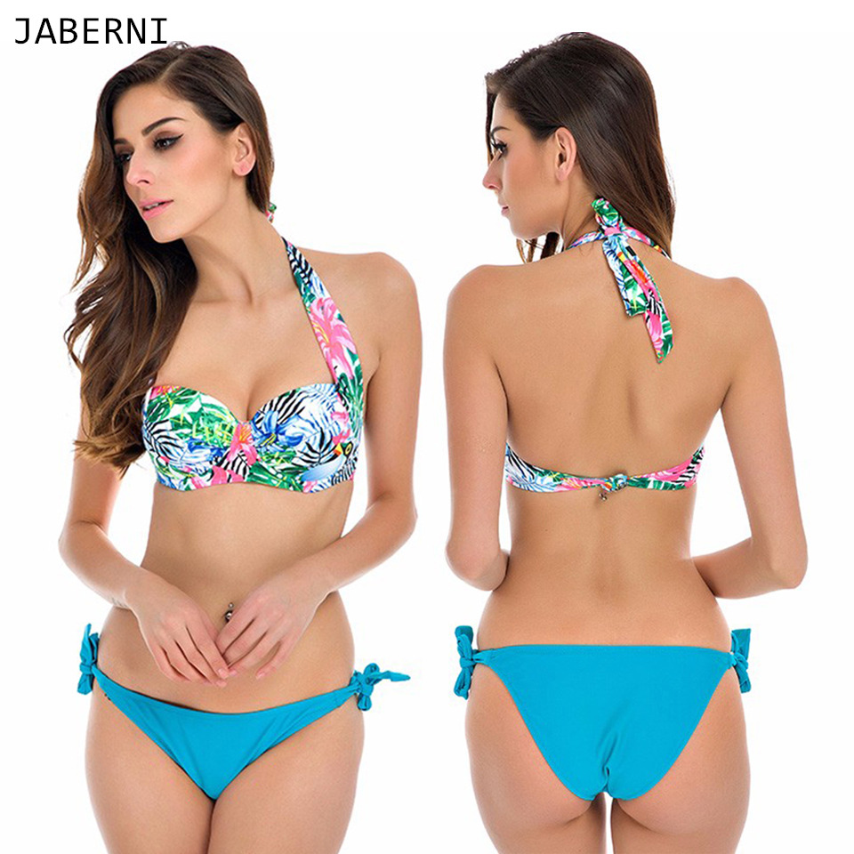 ФОТО JABERNI sexy 2017 bikini new arrival swimwear women swimsuit bathing suits summer bikini push up beach wear RS808