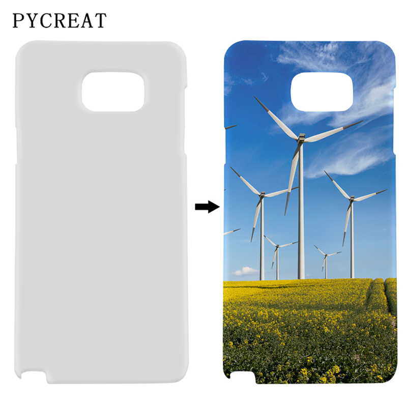 Note 5 Sublimation Case 3D For Samsung Galaxy Note 5 N9200 Blank Cover Plastic DIY Printing 3D Sublimation Coque Heat Transfer