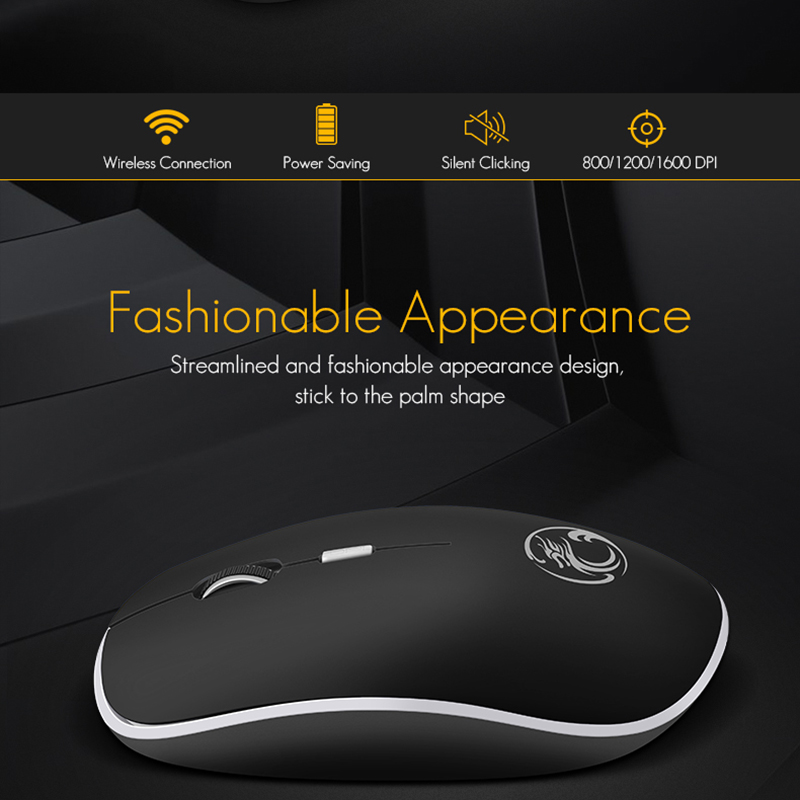 iMice Wireless Mouse Silent Computer Mouse 1600 DPI Ergonomic Mause Noiseless Sound USB PC Mice Mute Wireless Mice for Laptop HTB1yu3gadfvK1RjSspfq6zzXFXaG Mice